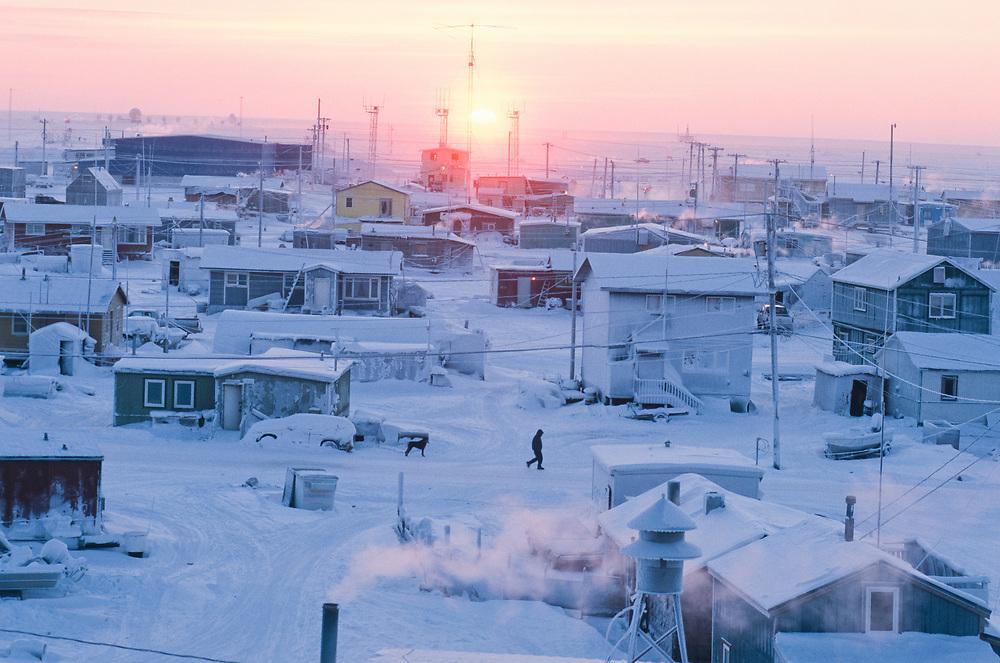 Alaska. Barrow. The Inupiat village of Barrow on the Beaufort Sea.