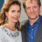 NLD/Katwijk/20170403 - 100ste geboortedag Erik Hazelhoff Roelfzema, Pieter Christiaan en partner Anita van Eijk