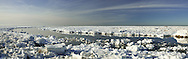 There is an arctic feel to this panorama of ice at Rock Harbor, Orleans.