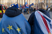 Anti-Brexit Campaigners outside Westminster. London was the only region in England that voted to remain in the EU referendum, but the British public as a whole voted to leave. Banking is just the tip of the iceberg with many other industries also making irrevocable decisions. The damage to the economy from Brexit is already afoot — so much so that the act of leaving the EU itself is, at this point, increasingly irrelevant. Businesses are closing, uncertainty reigns. Brexit is increasingly fraught with uncertainty after the UK's parliament rejected Prime Minister Theresa May's Brexit deal many times.