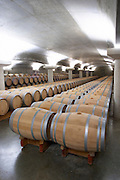 barrel aging cellar chateau la garde pessac leognan graves bordeaux france