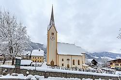 THEMENBILD - die Krimmler Kirche und der Friedhof, aufgenommen am 12. November 2016, Krimml, Österreich // The Krimmler Church and the cemetery, Krimml, Austria on 2016/11/12. EXPA Pictures © 2016, PhotoCredit: EXPA/ JFK