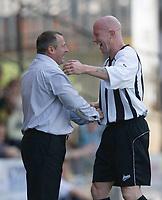 Photo: Steve Bond/Richard Lane Photography. Nottingham County v Nottigham Forest. Pre season Friendly. 25/07/2009. Ian McParland (L) and Lee Hughes (R) as County go 2 up