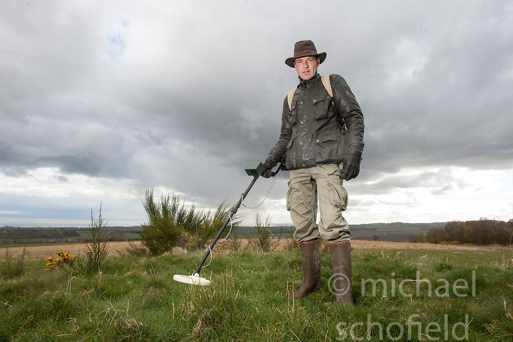 Largo Law hill, near Methil.Historian Ashley Cowie road trip. He is doing a seven part series for The Scottish Sun on Scotland's treasure hunts at the end of April..©Michael Schofield..
