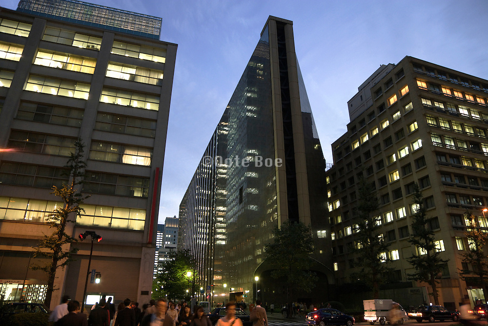Mizuho Corporate bank headquarters in Otemachi Tokyo Japan