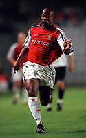 Sylvian Wiltord (Arsenal). AC Sparta Prague 0:1 Arsenal. UEFA Champions League, Prague, Czech Republic, 12/9/2000. Credit: Colorsport / Stuart MacFarlane.