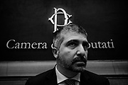 Simone Di Stefano, Casapound secretary, presents the electoral program in the italian Chamber of Deputies. It's the first time that a fascist-inspired group enters in the Italian Parliament since 'fascist twenty years'. Rome 9 Febraury 2018. Christian Mantuano / OneShot