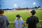 Szekely Land supporters making some noise despite a 4 - 2 defeat against Karpatalya during the Conifa Paddy Power World Football Cup semi finals on the 7th June 2018 at Carshalton Athletic Football Club in the United Kingdom. The CONIFA World Football Cup is an international football tournament organised by CONIFA, an umbrella association for states, minorities, stateless peoples and regions unaffiliated with FIFA.