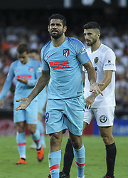 August 20, 2018 - Diego Costa of Atletico de Madrid in action during the spanish league, La Liga, football match between ValenciaCF and Atletico de Madrid on August 20, 2018 at Mestalla stadium in Valencia, Spain. (Credit Image: © AFP7 via ZUMA Wire)