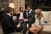 EDDIE REDMAYNE, DAVID DE ROTHSCHILD, DAVID WALLIAMS AND MARTHA WARD, Fashion Fringe 2008 - launch dinner hosted by Elizabeth Saltzman for Donatella Versace. Claridge's Hotel, Brook Street, Mayfair, London. 11 March 2008.  *** Local Caption *** -DO NOT ARCHIVE-© Copyright Photograph by Dafydd Jones. 248 Clapham Rd. London SW9 0PZ. Tel 0207 820 0771. www.dafjones.com.