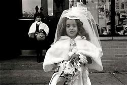 New York 1987 - Alphabet City bride. © Laura Mueller
