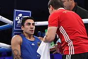 Boxen: AIBA Box-WM, Day 3, Hamburg, 20.08.2017<br /> 64 Kg: Luke McCormack (ENG, Red) - Artem Harutyunyan (GER, Blue)<br /> © Torsten Helmke