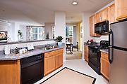 Apartment Interior Kitchen stock Photo