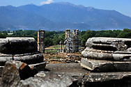 The Forum and Basilica in Philippi, near Kavala, Greece<br /><br />Photo by Dennis Brack