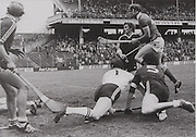 Galway's Conor Hayes, Seamus Shinnors, Iggy Clarke and Joe McDonagh face Cork's Ray Cummins in the 1979 All-Ireland semifinal.