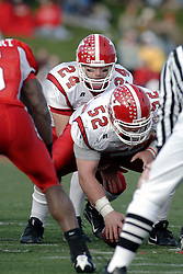 28 October 2006: Tom Zetts sets up under center Ryan Jewell. Youngstown State turned off over 15,000 fans as the win blew their way, cooling off Illinois State 27-13. Nationally ranked teams Youngstown State Penguins and Illinois State Redbirds competed at Hancock Stadium on the campus of Illinois State University in Normal Illinois.<br />