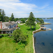 A real estate marketing image of Lady Isle Island in Portsmouth, NH.