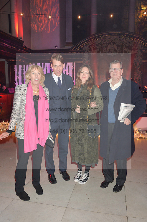 LONDON, ENGLAND 29 NOVEMBER 2016: Annabel Elliot, Ben Elliot, Mary Clare Elliot, Simon Elliot at the Fayre of St James's hosted by Quintessentially Foundation and the Crown Estate in aid of Cheryl's Trust in support of The Prince's Trust held at St.James's Church, Piccadilly, London, England. 29 November 2016.