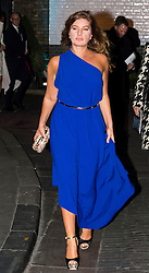 © Licensed to London News Pictures. 08/02/2016. London, UK. KARREN BRADY leaves the The Brewery in London after the annual Conservative Party Black & White Ball, a Conservative Party fundraiser.  Photo credit: Ben Cawthra/LNP