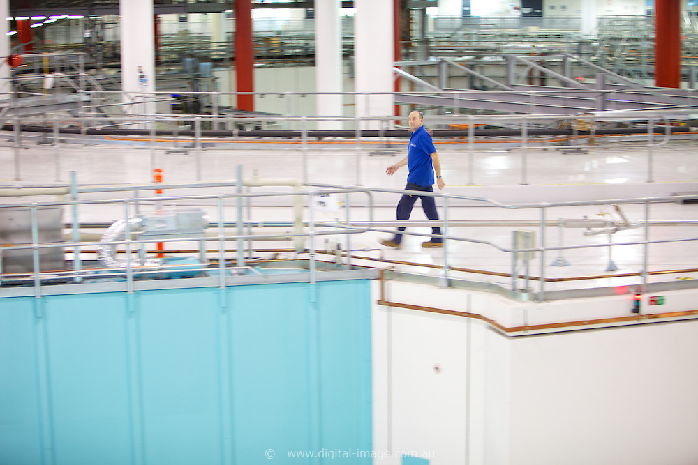 Australian Synchrotron, Colin walking on top of Beam Line.