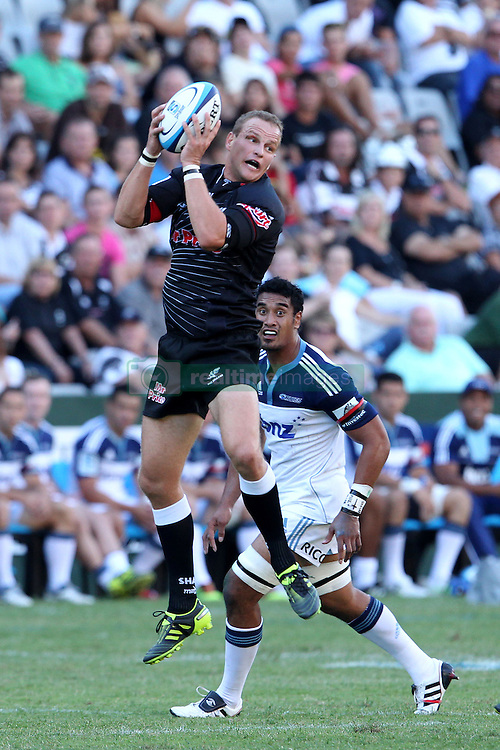 Meyer Bosman of The Sharks during the Super15 match between The Mr Price Sharks and The Blues held at Mr Price Kings Park Stadium in Durban on the 26th February 2011..Photo By:  Ron Gaunt/SPORTZPICS