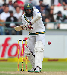 Cape Town-180324 South Africa's Hashim Amla betting  in the second innings  against  Australian  in the 3rd test of the Sunfoil cricket test at Newlands cricket stadium. .Photograph:Phando Jikelo/African News Agency/ANA