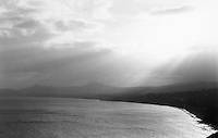 Killiney Bay, Dublin, Ireland, Black and white film used, grainy