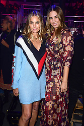 Amber Le Bon and Yasmin Le Bon during the Tommy Hilfiger Front row during London Fashion Week SS18 held at Roundhouse, Chalk Farm Rd, London. Picture Date: Tuesday 19 September. Photo credit should read: Ian West/PA Wire