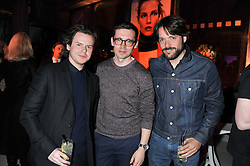 Left to right, CHRISTOPHER KANE, ERDEM MORALIOGLU and PHILIP JOSEPH at the Vogue Festival Party 2013 in association with Vertu held at the Queen Elizabeth Hall, Southbank Centre, London SE1 on 27th April 2013.