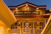 The Snake River Grill restaurant in downtown Jackson, Wyoming.