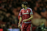 George Friend (Middlesbrough) during the Sky Bet Championship match between Middlesbrough and Wolverhampton Wanderers at the Riverside Stadium, Middlesbrough, England on 4 March 2016. Photo by Mark P Doherty.