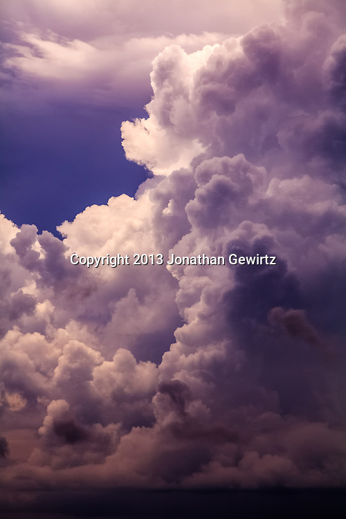 Storm clouds over the Atlantic Ocean near Miami, Florida. WATERMARKS WILL NOT APPEAR ON PRINTS OR LICENSED IMAGES.