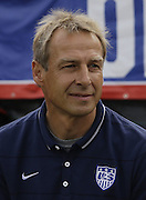 JACKSONVILLE, FL - JUNE 07:  United States head coach Jurgen Klinsmann watches the action on the field before the international friendly match against the Nigeria at EverBank Field on June 7, 2014 in Jacksonville, Florida.  (Photo by Mike Zarrilli/Getty Images)