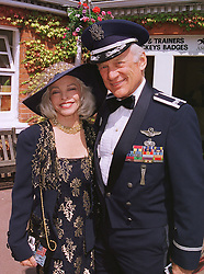 MR & MRS BUZZ ALDRIN the 2nd man to walk on The Moon, at Royal Ascot on 16th June 1999.MTH 5