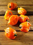 Fresh Scotch Bonnet chiilies (chilies) photos, pictures & images