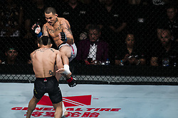 October 28, 2017 - Sao Paulo, Sao Paulo, Brazil - Oct, 2017 - Sao Paulo, Sao Paulo, Brazil - Fight between JOHN LINEKER (Maos de Pedra) and MARLON VERA (Chito) during UFC Fight Night, at the Ibirapuera Gymnasium in Sao Paulo, this Saturday (28).  LINEKER (in black) won. (Credit Image: © Marcelo Chello via ZUMA Wire)