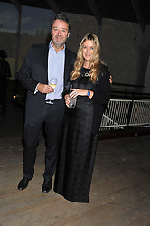 ANYA HINDMARCH and JAMES SEYMOUR at a dinner hosted by Calvin Klein Collection to celebrate the future Home of The Design Museum at The Commonwealth Institute, Kensington, London on 13th October 2011.