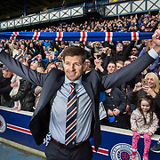 New Rangers manager Steven Gerrard is presented to fans and media at Ibrox this afternoon.  <br /> <br /> Picture Robert Perry  4th May 2018<br /> <br /> Must credit photo to Robert Perry<br /> FEE PAYABLE FOR REPRO USE<br /> FEE PAYABLE FOR ALL INTERNET USE<br /> www.robertperry.co.uk<br /> NB -This image is not to be distributed without the prior consent of the copyright holder.<br /> in using this image you agree to abide by terms and conditions as stated in this caption.<br /> All monies payable to Robert Perry<br /> <br /> (PLEASE DO NOT REMOVE THIS CAPTION)<br /> This image is intended for Editorial use (e.g. news). Any commercial or promotional use requires additional clearance. <br /> Copyright 2018 All rights protected.<br /> first use only<br /> <br /> <br /> no internet usage without prior consent.         <br /> Robert Perry reserves the right to pursue unauthorised use of this image . If you violate my intellectual property you may be liable for  damages, loss of income, and profits you derive from the use of this image.