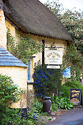 Kitnors traditional and quaint Tearooms at Bossington in Exmoor National Park, Somerset, United Kingdom