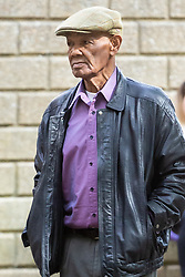 Wolsey Jones, father of footballer Paul Ince, arrives at Croydon Crown Court to face charges of raping his daughter and stepdaughters. Croydon July 08 2019.