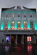 The Old Vic Theatre currently showing A Christmas Carol by Charles Dickens is lit up at sundown on The Cut on 27th November 2019 in London, England, United Kingdom. The Old Vic is one of the best known and best loved theatres in the world, synonymous with the greatest acting talent that Britain has ever produced. This iconic 192-year-old building has a rich history of great performances and The Old Vic Theatre Company continues to attract the best creative talent from the UK and all over the world to tread its famous boards.