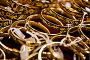Inlaid gold bracelets, Toledo, Spain