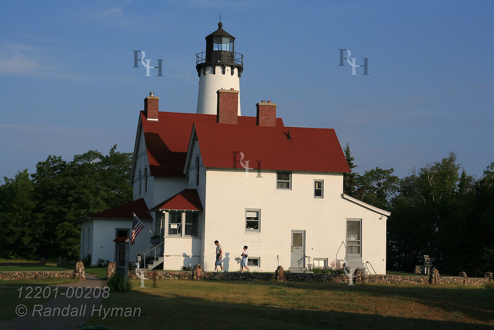 Point Iroquois Light, with its 1902 keeper's quarters and 65-foot-tall 1871 lighthouse, once guided ships across Whitefish Bay to and from the Soo Locks; Point Iroquois, Michigan.