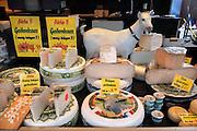 Nederland, Nijmegen, 4-3-2012Een kraam met geitenkaas op de markt.Foto: Flip Franssen/Hollandse Hoogte