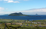 Housing speckle the landscape at Dun Chaoin on the Dingle Penninsula overlooking the Blasket Islands..Picture by Don MacMonagle
