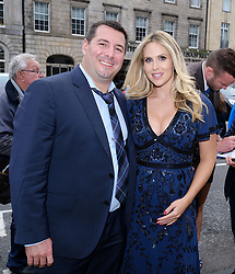 Edinburgh International Film Festival 2019<br /> <br /> Robert The Bruce (World Premiere) after[arty<br /> <br /> Pictured: Anna Hutchinson and her husband Mike Gilespie (executive producer) arrive for the party<br /> <br /> Alex Todd | Edinburgh Elite media
