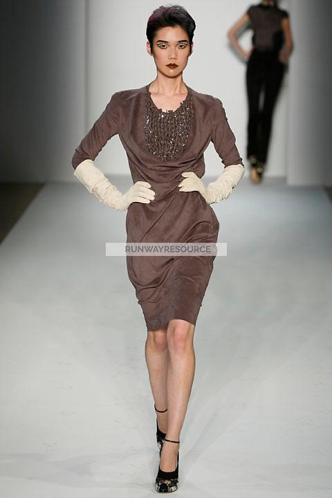 Tao Okamoto walks the runway Costello Tagliapietra Fall 2009 collection