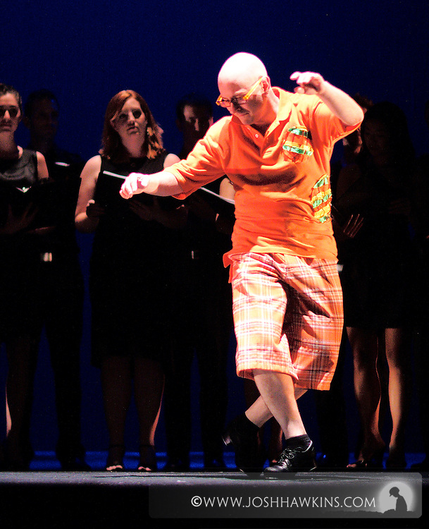 """""""Tap Out Loud"""" by Chicago Dance Theatre, a dance production done in collaboration with other dance and musical performers at Chicago's Athenaeum Theater...Dancer: Mark Yonally..Somebody to Love .Words and Music by Freddie Mercury (Arr. Roger Emerson) .Performed by The Red Line Choir .Dancers:Richard Ashworth, Martin Bronson, Phil Brooks,  .Laura Chiuve, Jenna Deidel, Kendra Jorstad, Christina Merrill, .Stacy Milam, Jennifer Pfaff, Melissa Reh, Laura Sicignano"""