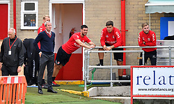 Charlton Athletic caretaker manager Lee Bowyer (left) and Caretaker Assistant Manager Johnnie Jackson (second left) ahead of the match