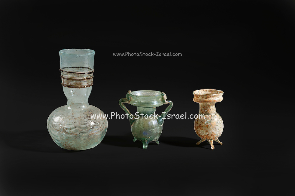 Glass container from the 4th century CE